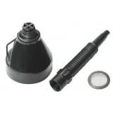 Воронка пластиковая с гибким носиком и фильтром (d=135мм, L= 400мм)