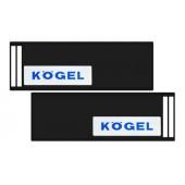 Брызговик 35х240см (KOGEL) с светоотражающей белой основой, из 2-х частей