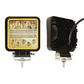 Фара светодиодная п/т и рабочего света, 12-80V, 120W (105х105мм, 40 LED, с желтой подсветкой 5W)