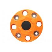 Колпак колеса R-17.5/19.5 передний ступичный (8 шпилек, пластик-оранж.)