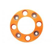 Колпак колеса R-17.5/19.5 передний ступичный, ободок (8 шпилек, пластик-оранж.)