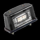Подсветка номера светодиодная 24V черная 2-LED, EURO 14553