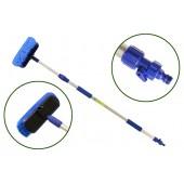Щетка для мытья телескопическая 2-х секционная L=100-165 см (с краном подачи воды, CA-600L)