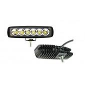 Фара светодиодная противотуманная и рабочего света 10-30V, 18W (160x46мм, 6 LED)