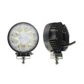 Фара светодиодная п/т и рабочего света, 10-30V, 24W (d=110мм, 8 LED)