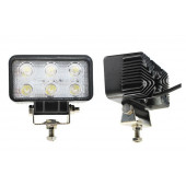 Фара светодиодная п/т и рабочего света, 10-30V, 18W, (110x65мм, 6 LED)