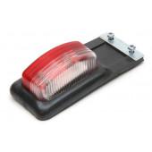 Указатель габаритов с кронштейном, под лампочку, красно-белый Е-308